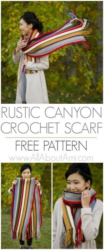 Rustic Canyon Crochet Scarf