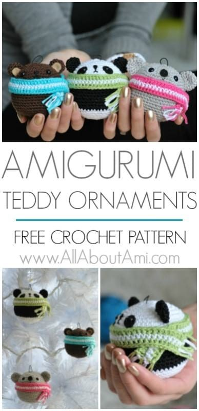 Amigurumi Teddy Ornaments Pattern