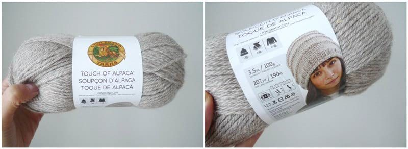 "Touch of Alpaca Yarn in ""Taupe"""