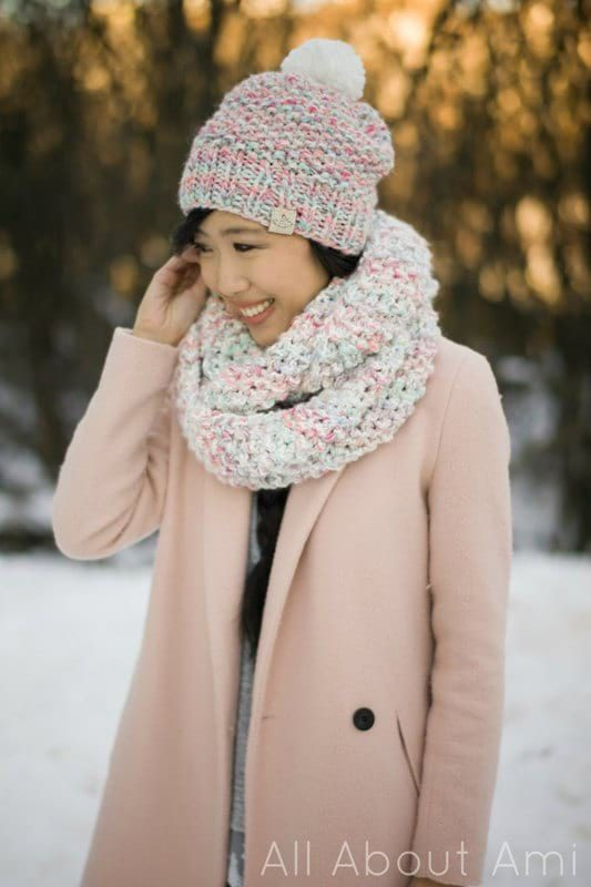 Cotton Candy Cowl & Beanie