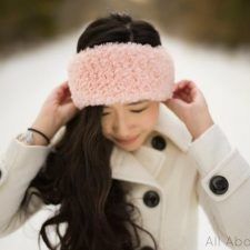 Crochet Faux Fur Headband