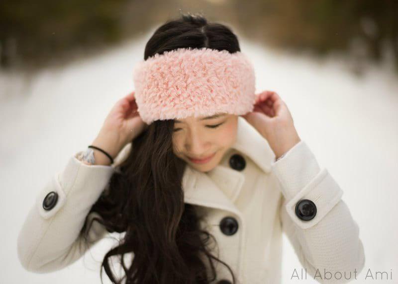 Crochet Faux Fur Headband