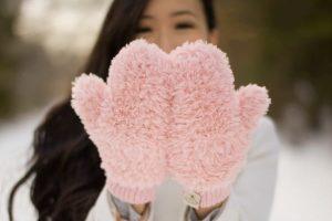 Crochet Faux Fur Mittens