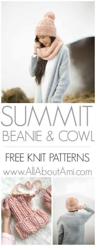 Summit Beanie & Cowl Knit Patterns