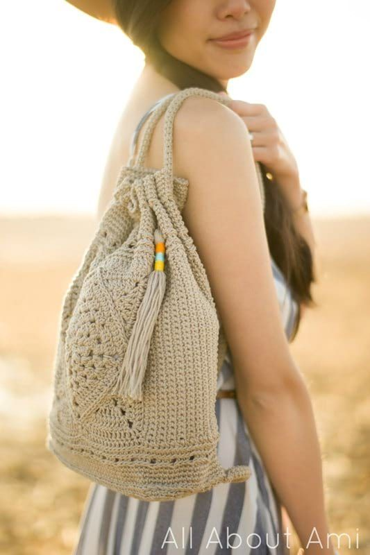 Crochet Wildrose Backpack