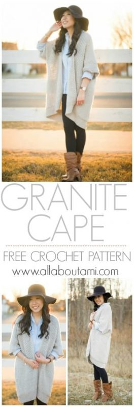 Granite Cape Crochet Pattern