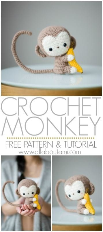 Amazon.com: crochet monkey, baby toy monkey, knitted monkey ... | 800x357