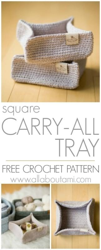 Square Carry-All Tray Crochet Pattern