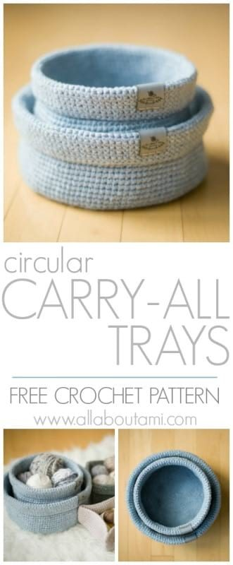 Circular Carry-All Tray
