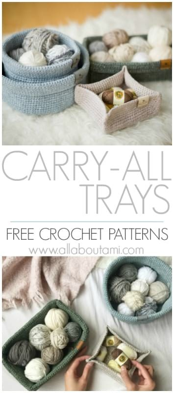 Carry-All Trays Crochet Pattern