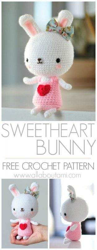 Sweetheart Bunny Crochet Pattern