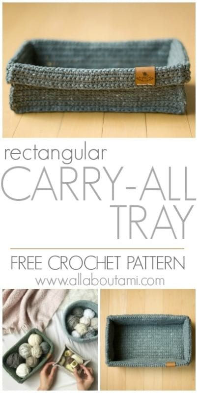 Rectangular Carry-All Tray Crochet Pattern
