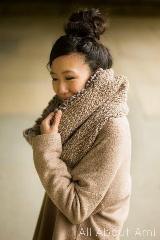 Crochet Luxe Faux Fur Cowl