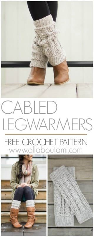 Cabled Legwarmers Crochet Pattern