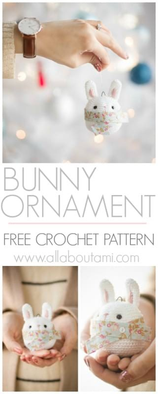 Bunny Ornament Crochet Pattern