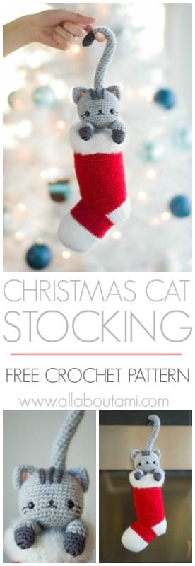 Chester the Christmas Cat Stocking