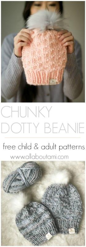 Child Chunky Dotty Beanie