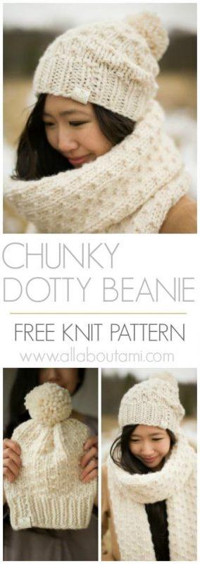 Chunky Dotty Beanie