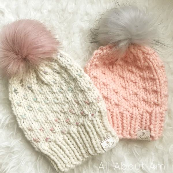 Chunky Duo-Color Dotty Beanie & Child Size
