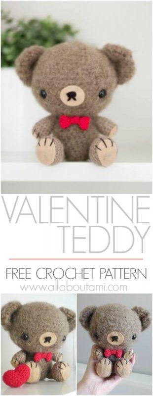 Valentine Teddy Crochet Pattern