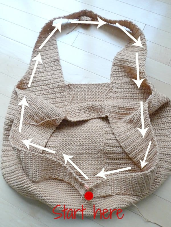 Camellia Tote Bag Crochet Pattern