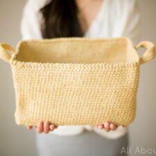 Rustic Tweed Basket Crochet Pattern