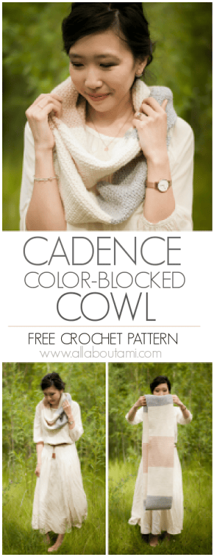 Cadence Color-Blocked Cowl Crochet Pattern