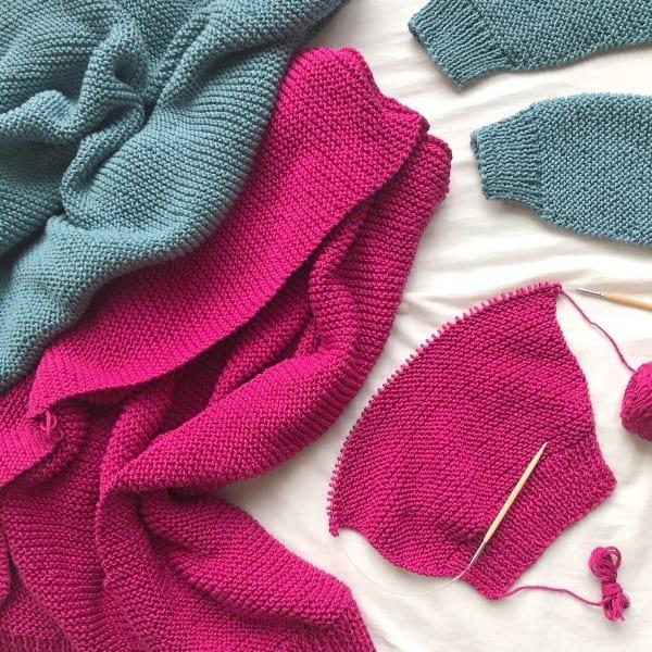 Mini Uptown Cardigan Knit Pattern