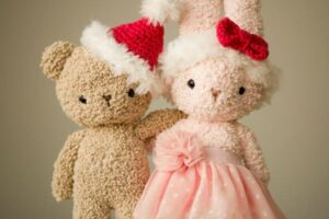 Boucle Bear & Bunny Christmas Accessories