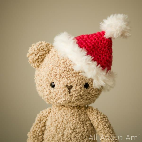 Boucle Bear Christmas Hat