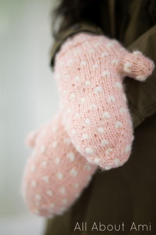 Knit Bulky Thrummed Mittens
