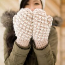 Bulky Crochet Thrummed Mittens Pattern