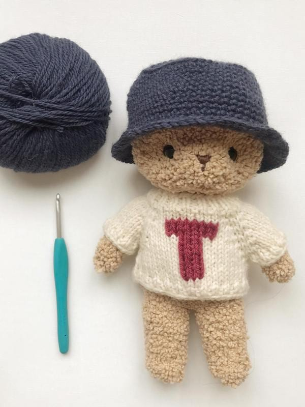 Bucket Hat for Teddy Boucle Bear